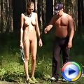 Nude gymnast goes thru outdoor male training
